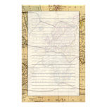World map on Mercators Projection Stationery Paper