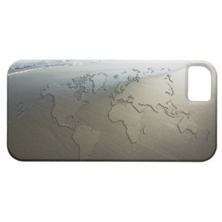 World map on sand iPhone SE/5/5s case