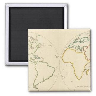 World Map Outline 2 Fridge Magnet