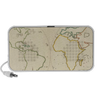 World Map Outline 2 Portable Speaker