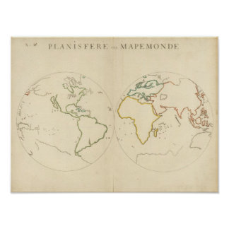 World Map Outline 2 Poster