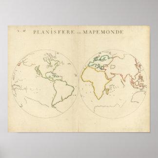 World Map Outline 2 Print