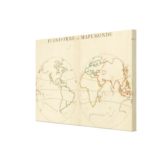 World Map Outline 2 Stretched Canvas Print