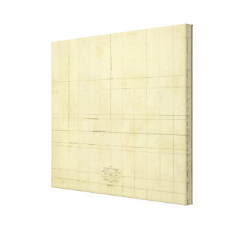 World Map Outline Canvas Print