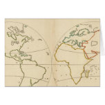 World Map Outline Greeting Card