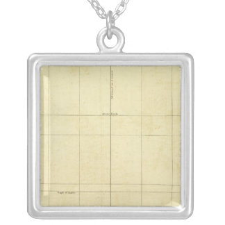 World Map Outline Square Pendant Necklace