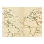 World Map Outline Postcard