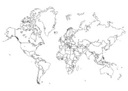 World map posters zazzle world map outline poster gumiabroncs Gallery