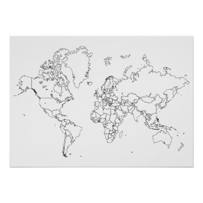 The World Map of Small Towns Poster Zazzlecom