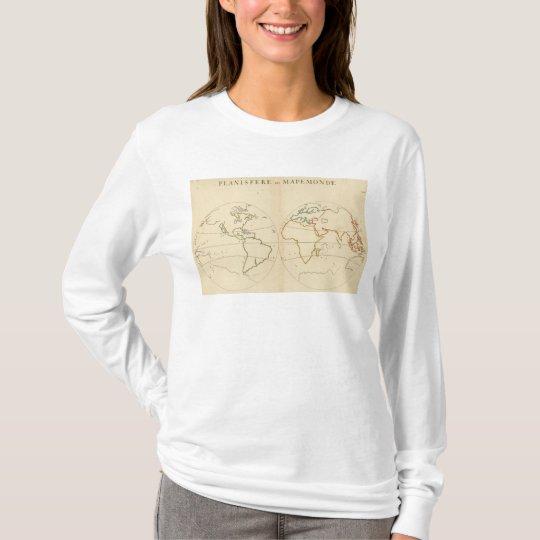 World Map Outline T-Shirt