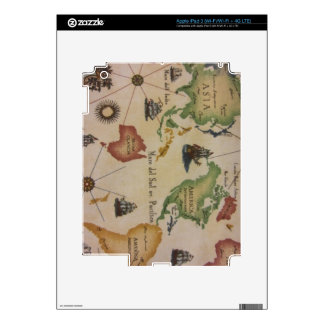 World Map Pacific Decal For iPad 3