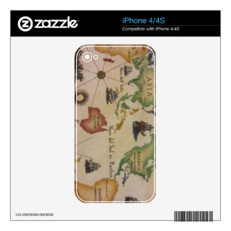 World Map Pacific iPhone 4 Skins