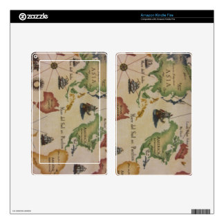 World Map Pacific Skins For Kindle Fire