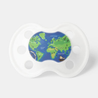 World Map Pacifiers