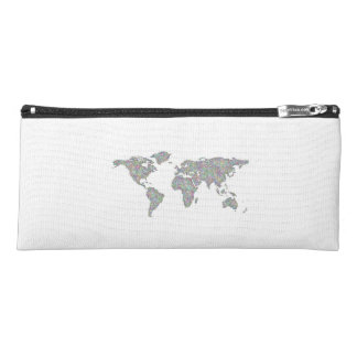 World map pencil case