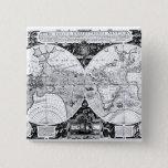 World map pinback button