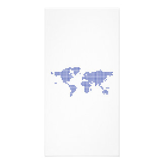 World map pixel photo cards