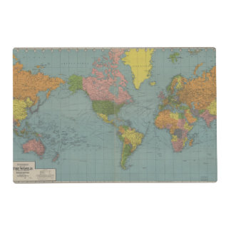 World Map Placemat