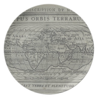 World Map Party Plate