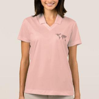 World map polo shirt