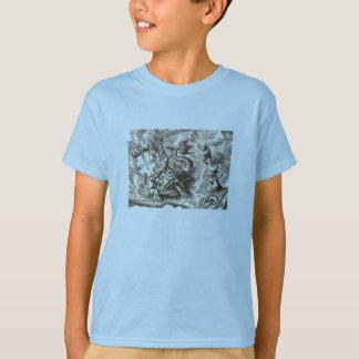 World Map Poseidon and Dolphin T-Shirt