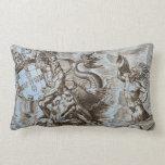 World Map Poseidon Throw Pillow
