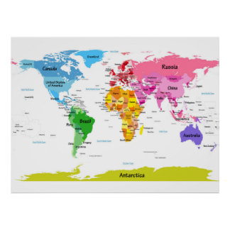 World map posters zazzle world map poster gumiabroncs
