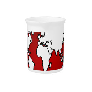 WORLD MAP RED BACKGROUND PRODUCTS PITCHER