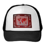 WORLD MAP RED CUSTOMIZABLE PRODUCTS HAT