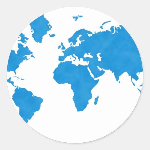 world map classic round sticker zazzle. Black Bedroom Furniture Sets. Home Design Ideas