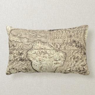 World Map Sea Serpents Lumbar Pillow