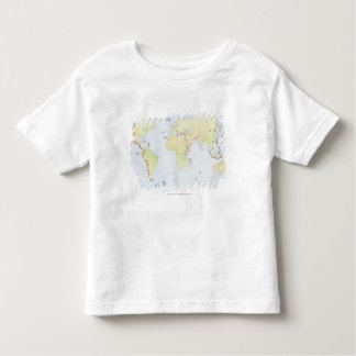 World map showing sites of volcanic activity toddler t-shirt