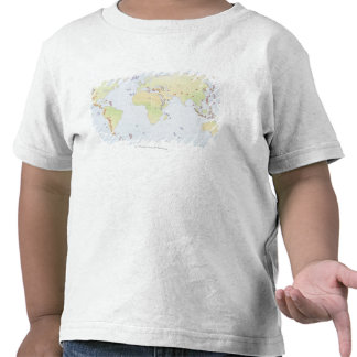 World map showing sites of volcanic activity t shirt