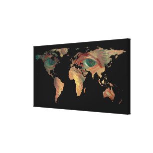 Abstract world maps canvas art prints zazzle world map silhouette van goghs painted eyes canvas print gumiabroncs Image collections