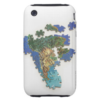 World Map, South America 2 Tough iPhone 3 Case