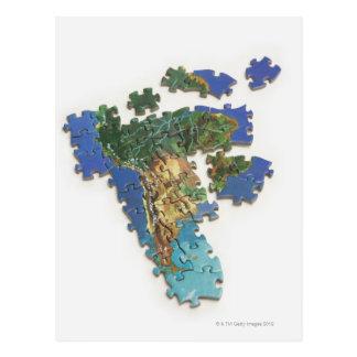 World Map, South America 2 Postcard