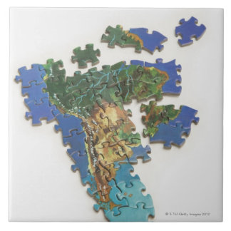 World Map, South America 2 Tile