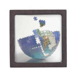 World Map, South America Premium Jewelry Box