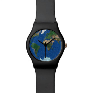 World Map Sphere 1: Europe Asia America Wrist Watch