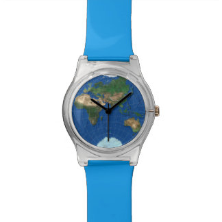 World Map Sphere 3: Europe Asia Africa Australia Wristwatch