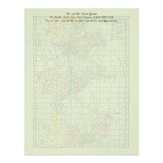 World Map Stationery Letterhead