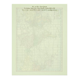 World Map Stationery Letterhead Template