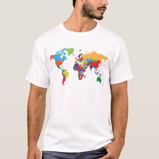 World map T Shirt Zazzle
