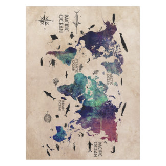 Map tablecloths zazzle world map table cloth gumiabroncs Gallery
