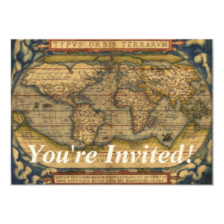 World map Theatrum Orbis Ancient Travel Card