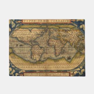 World map Theatrum Orbis Ancient Travel Doormat