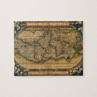 World map Theatrum Orbis Ancient Travel Jigsaw Puzzle