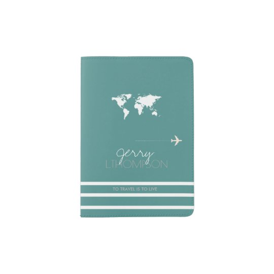 World map travel document turquoise passport holder zazzle world map travel document turquoise passport holder gumiabroncs Image collections