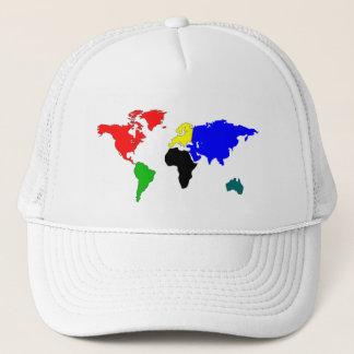 World map trucker hat