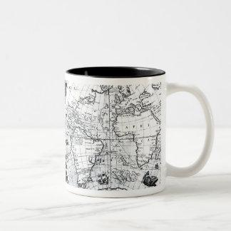 World map Two-Tone coffee mug